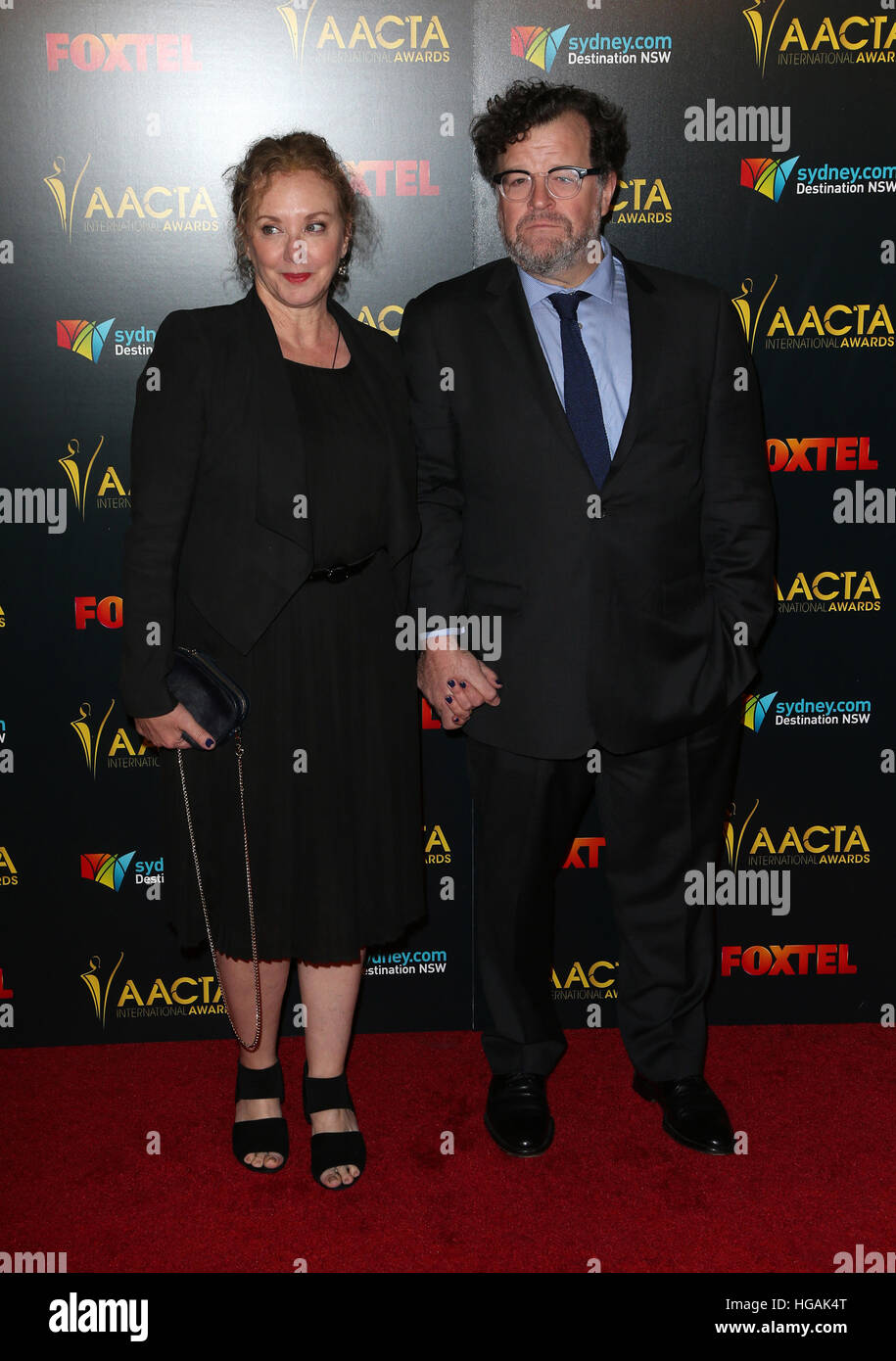 Hollywood, CA. 06th Jan, 2017. J. Smith-Cameron, Kenneth Lonergan, At 6th AACTA International Awards, At Avalon - Stock Image