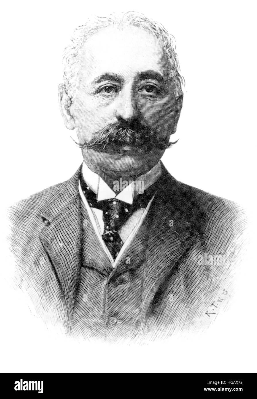 MAURICE de HIRSCH (1831-1896) German Jewish philanthropist and financier - Stock Image