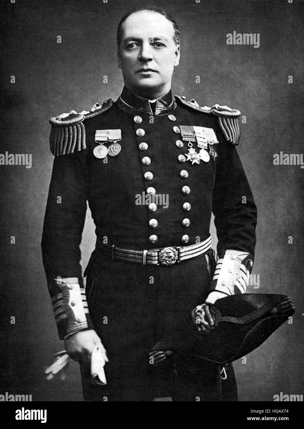 CHARLES BERESFORD (1846-1919) British Admiral and MP - Stock Image