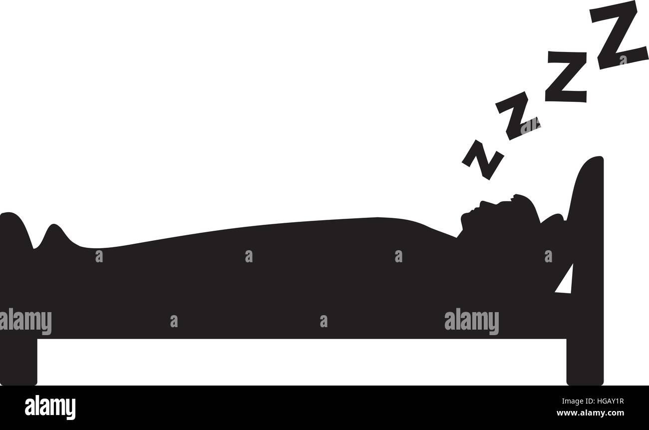 Man Sleeping Stock Vector Images Alamy