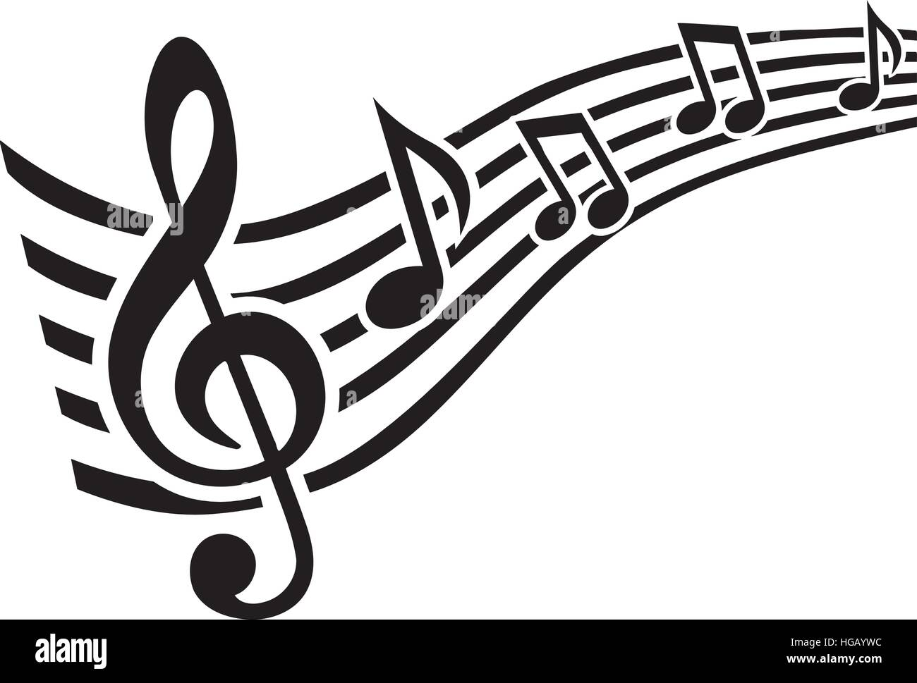 music note line swirl stock vector art illustration vector image rh alamy com Music Swirl Singing Notes