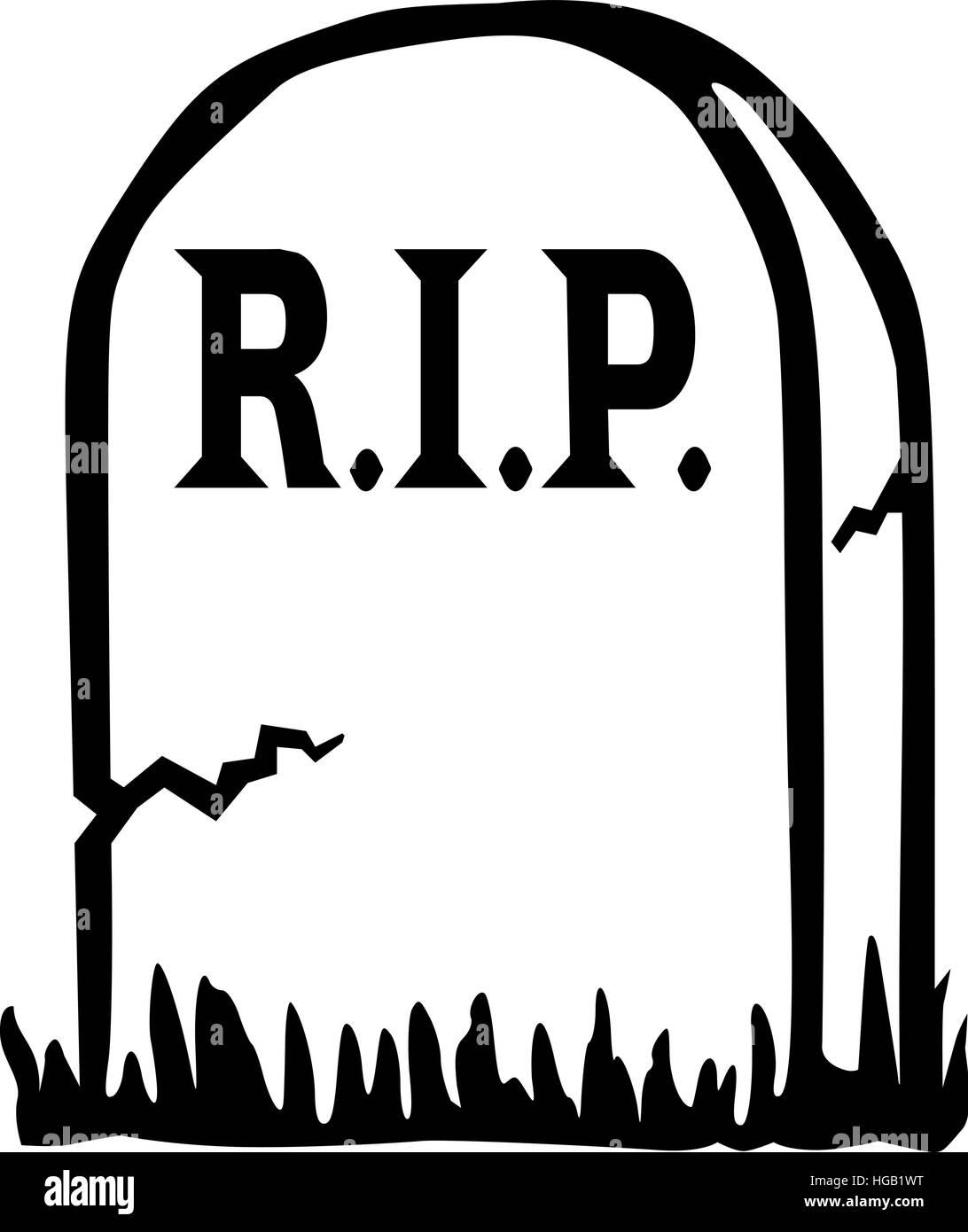 RIP grave - Stock Vector