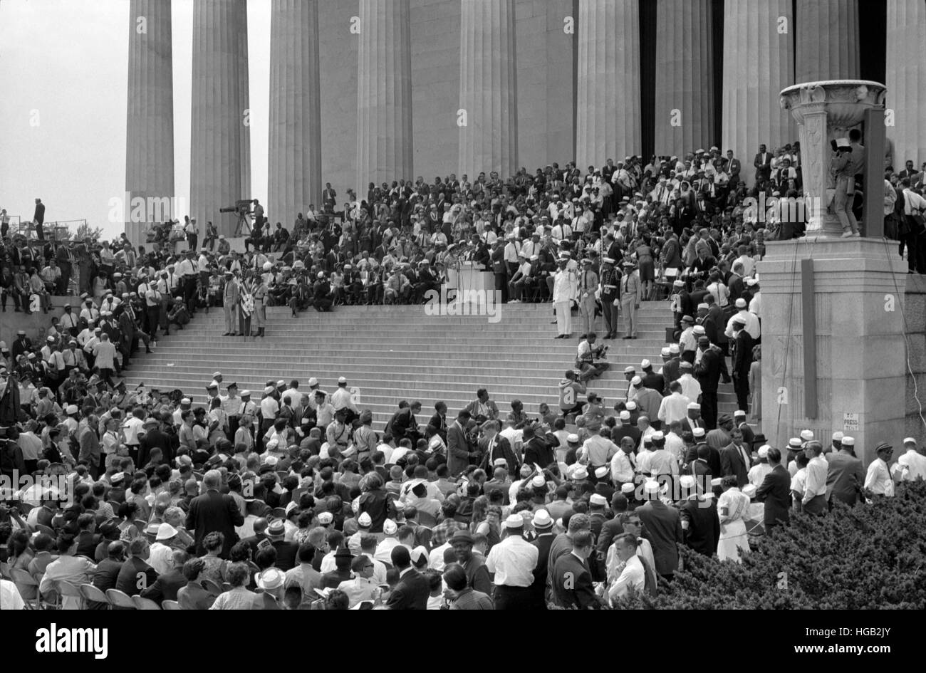 August 28, 1963 - Civil rights march on Washington D.C. - Stock Image