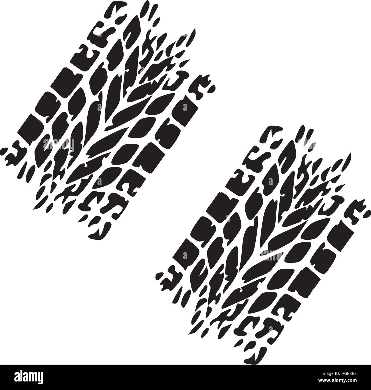 Tire tracks - Stock Image