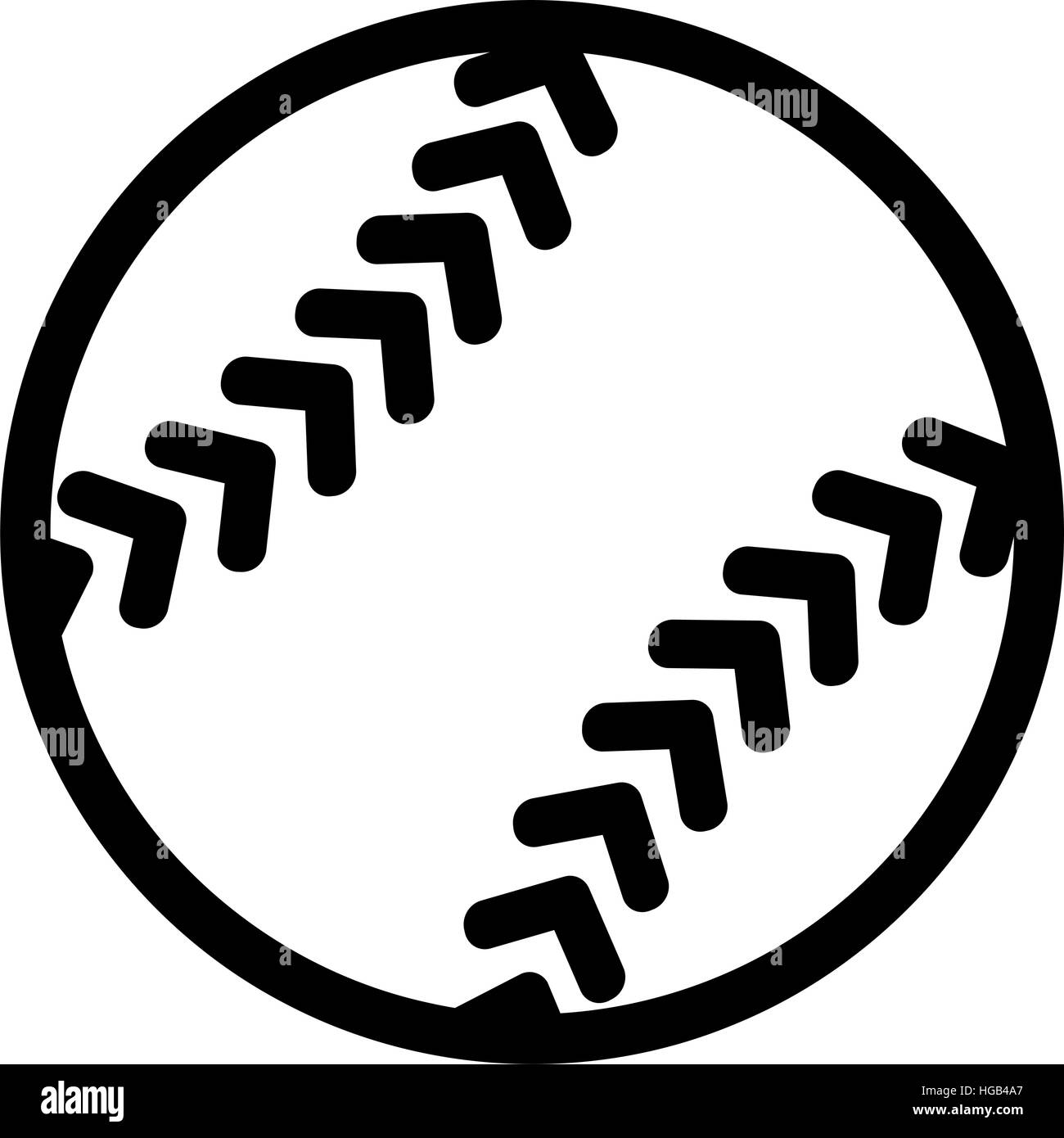 softball icon stock vector art illustration vector image rh alamy com softball bat vector art softball vector clip art