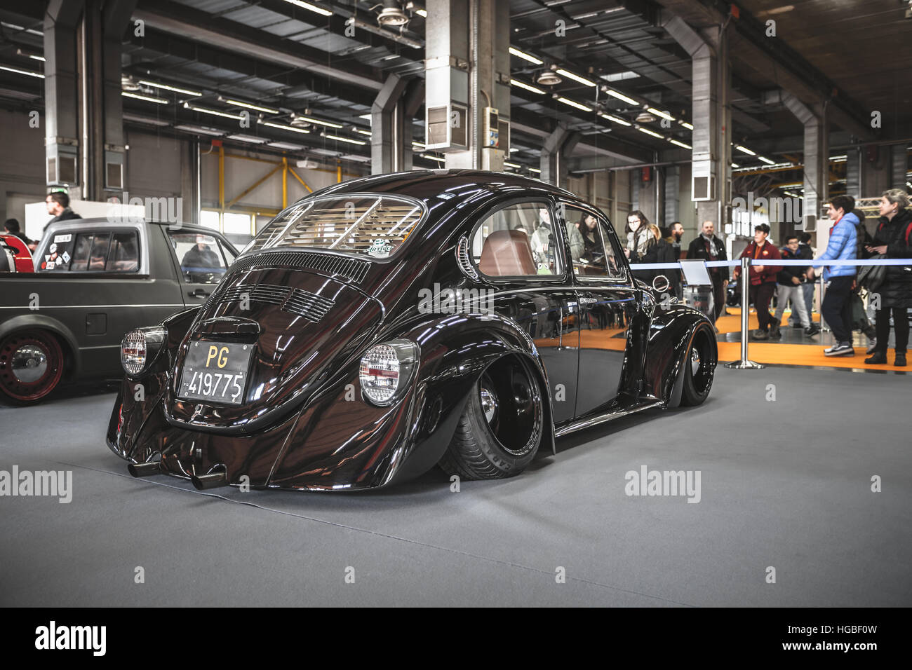 Italy, Bologna motor show 2016, volkswagen beetle type 1 - Stock Image