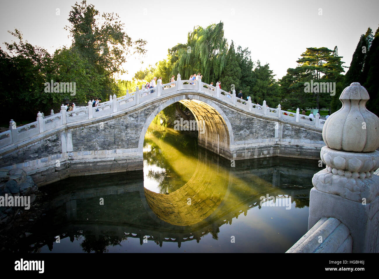 Marble Bridge At The Summer Palace In Beijing China Stock