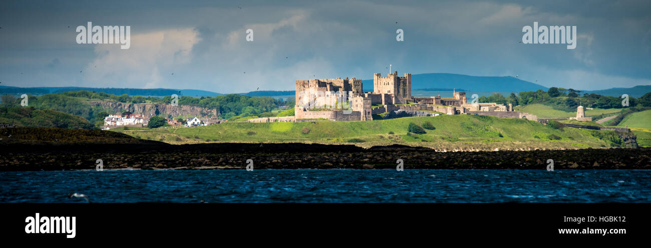 Bamburgh Castle, Northumberland, UK - Stock Image
