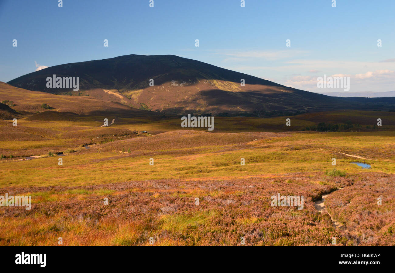 The Corbett Meall a' Bhuachaille from near Bynack Stable Northern Cairngorms National Park, Scottish Highland, Scotland, Stock Photo