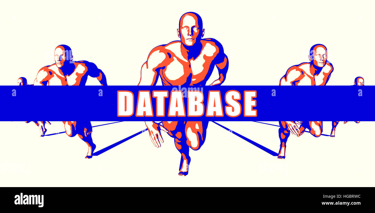 Database as a Competition Concept Illustration Art - Stock Image
