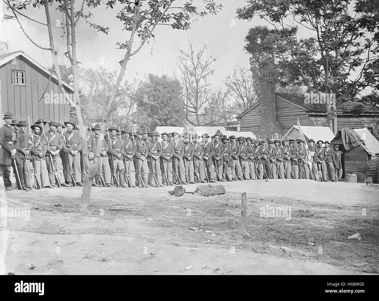 21st Michigan Infantry during the American Civil War. - Stock Image
