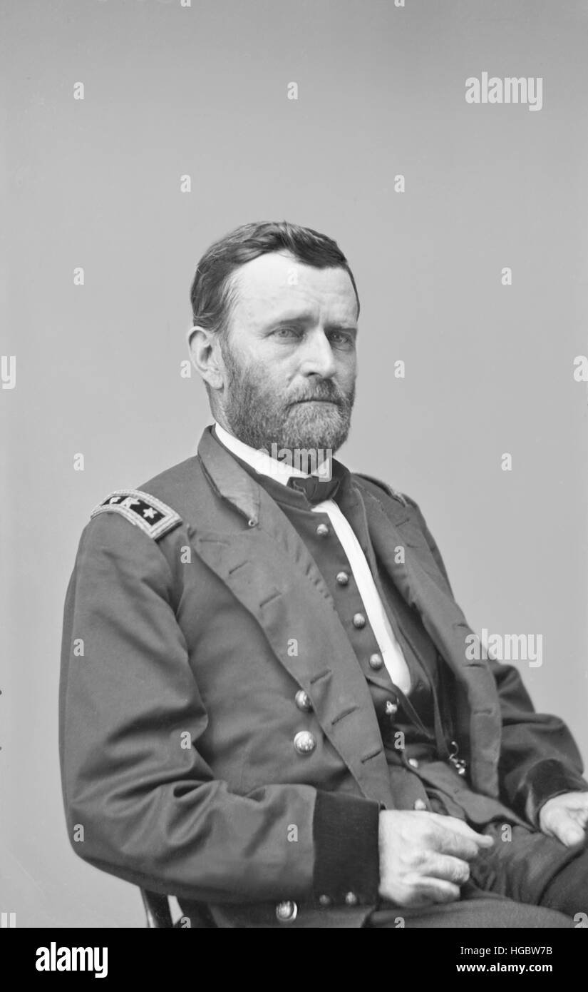 General Ulysses S. Grant of the Union Army. - Stock Image