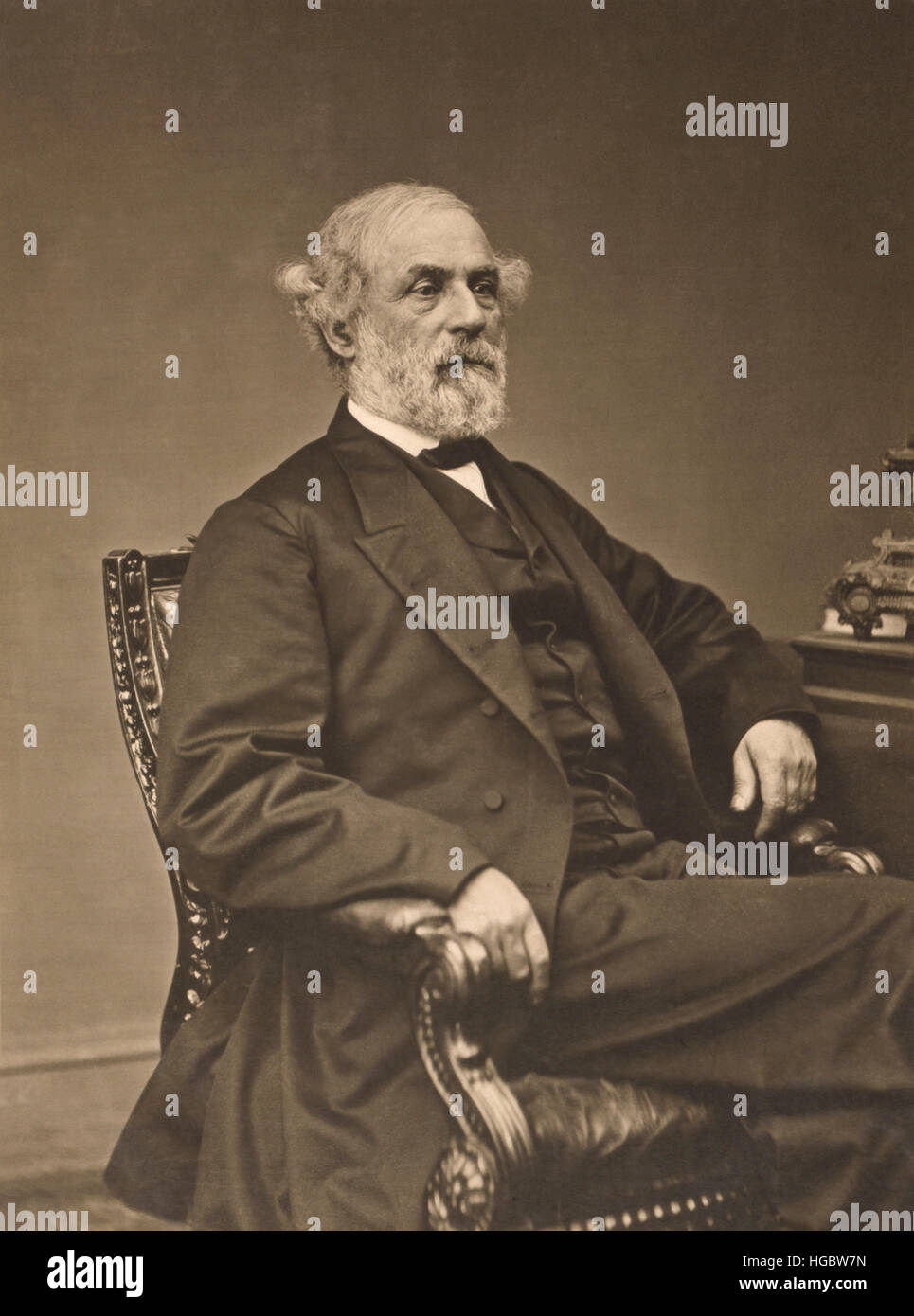 Robert Edward Lee portrait, circa 1869. - Stock Image