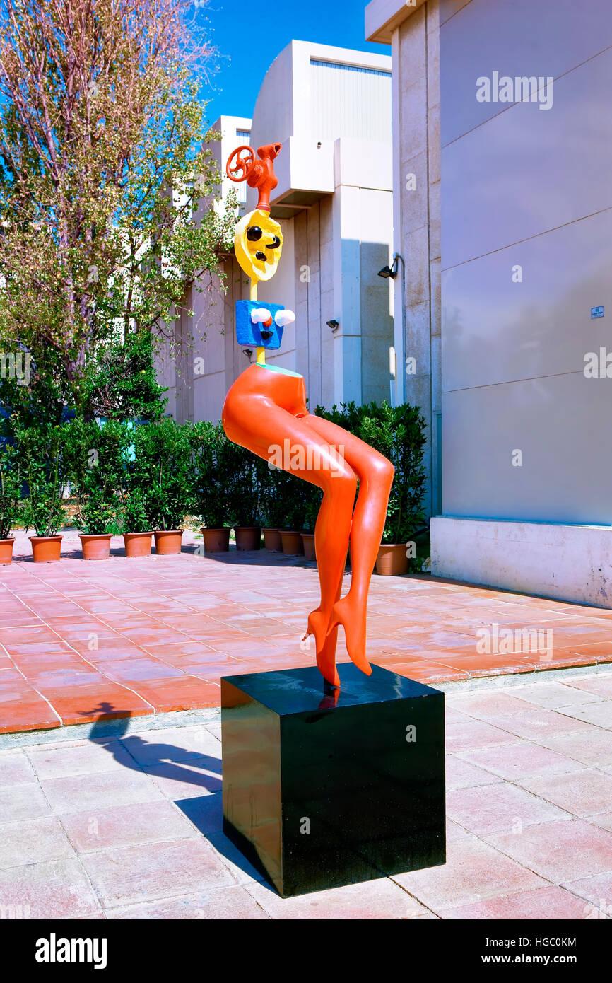 Joan Miro foundation,  Barcelona - Stock Image