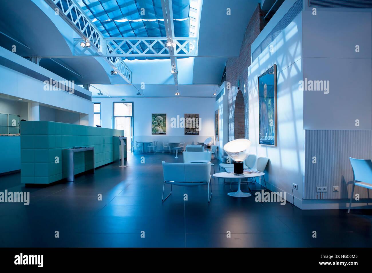 Caixa Forum in Montjuic, Barcelona - Stock Image