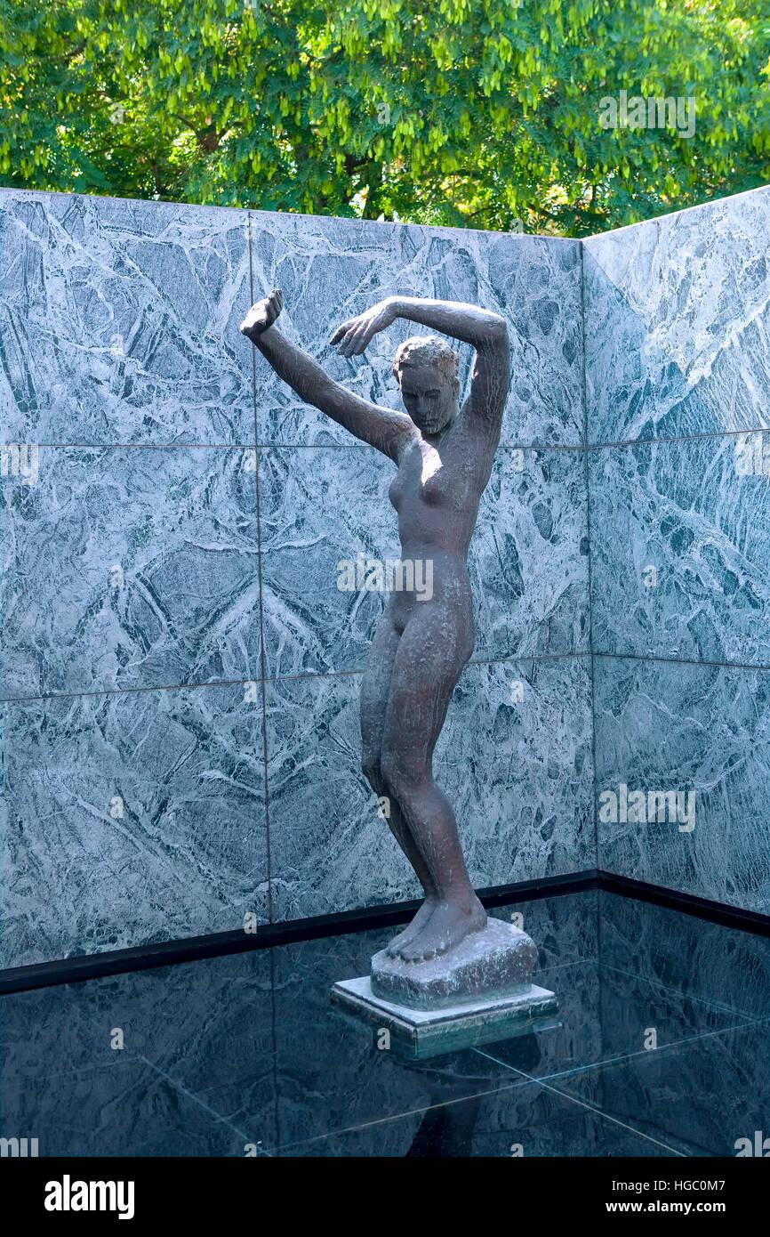 Mies Van der Rohe museum in Montjuic, Barcelona - Stock Image