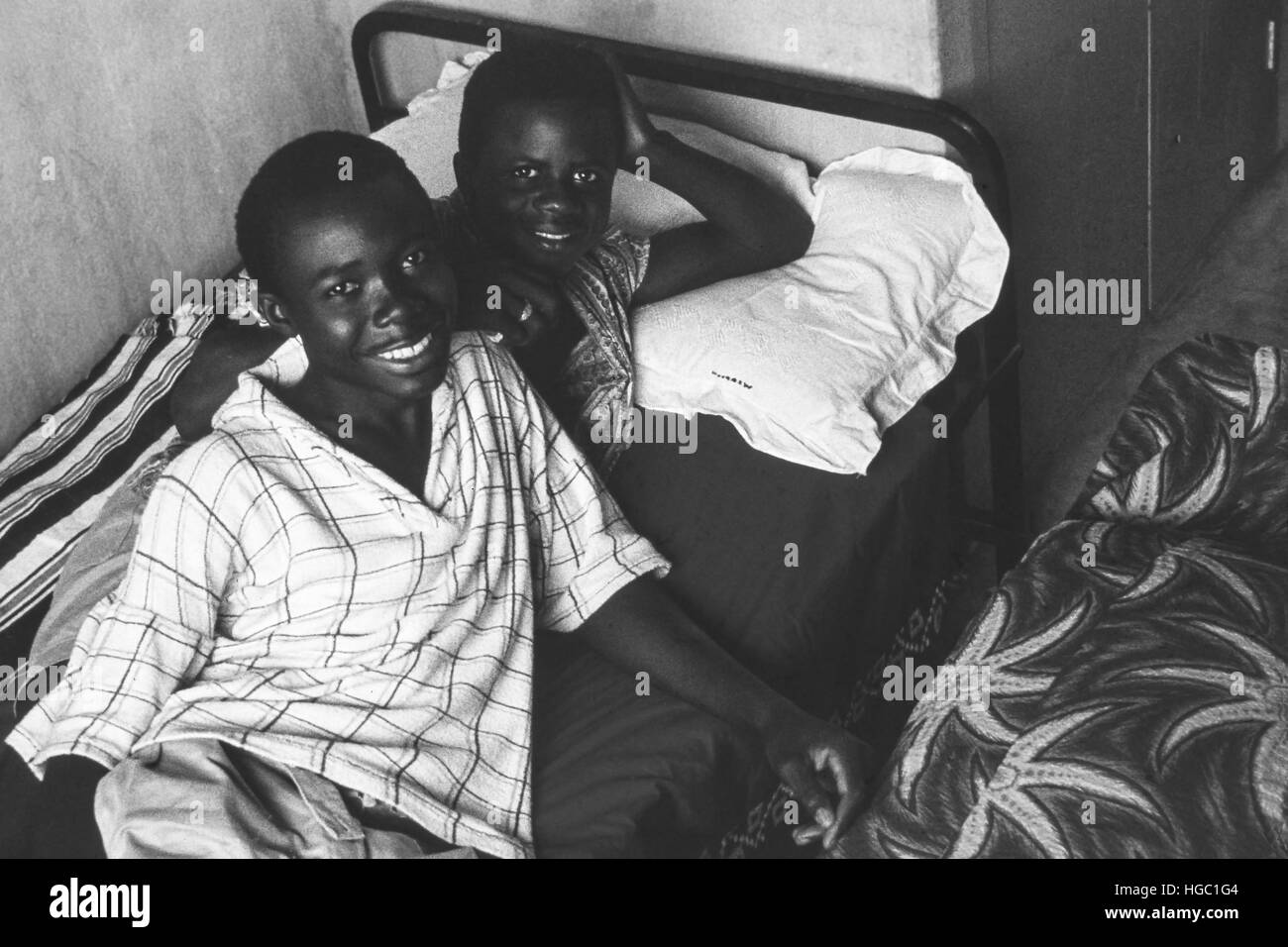 Two boarders at Jaiama Nimi Koro secondary school, Sierra Leone, in 1962. - Stock Image