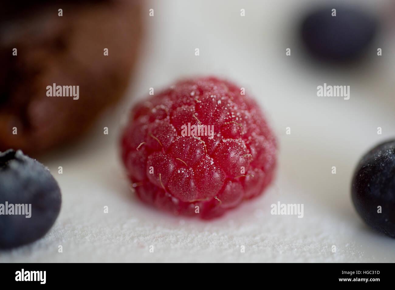 Raspberrie close-up. Makro - Stock Image