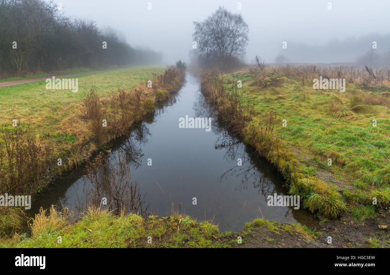 A view of Paddington Meadows in Warrington, Cheshire Stock Photo