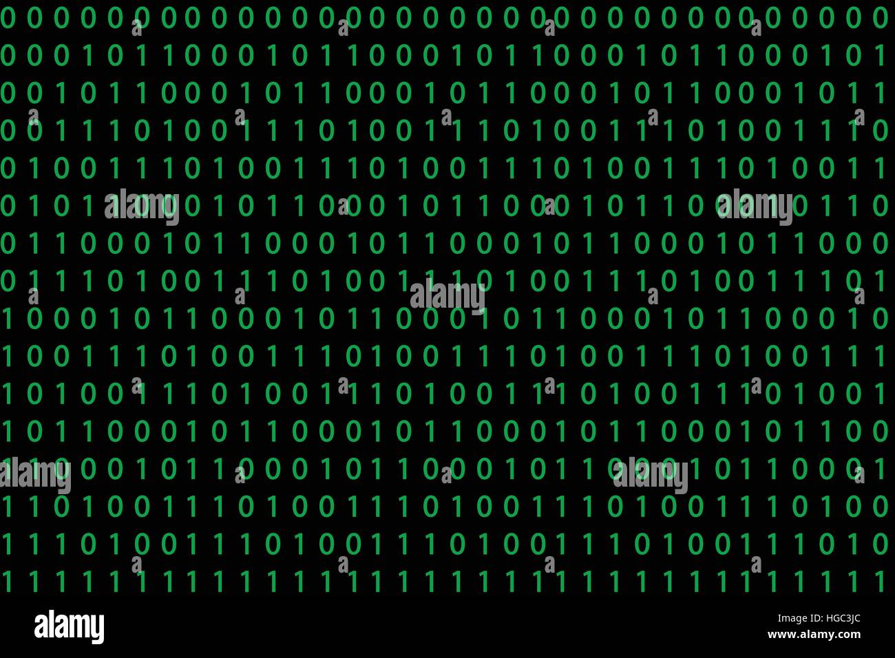 Seamless pattern with binary code - Stock Image
