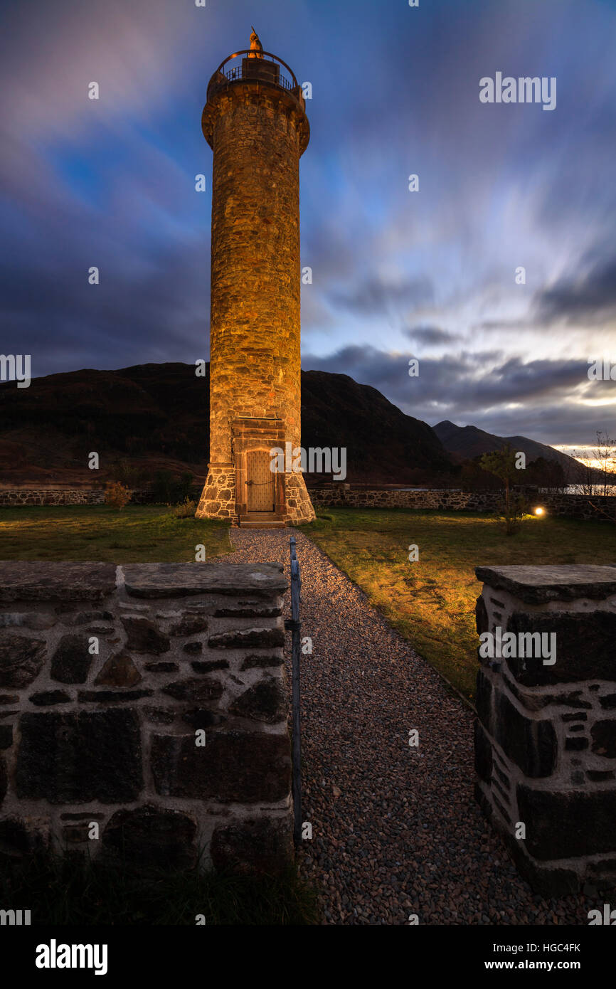 Glenfinnan Monument in the Scottish Highlands. - Stock Image