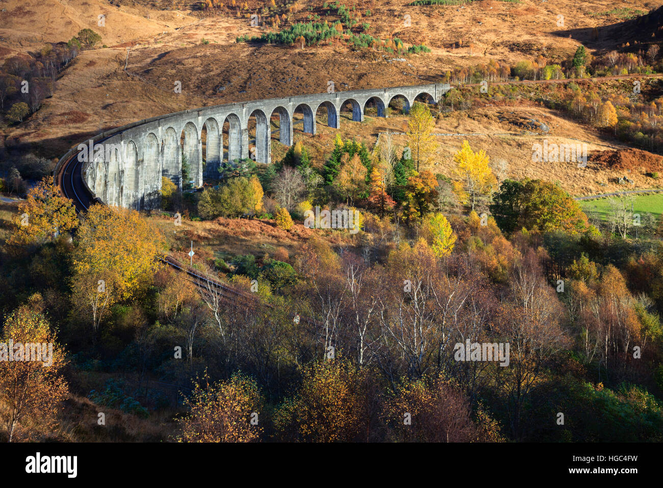 Glenfinnan Viaduct in the Scottish Highlands. - Stock Image