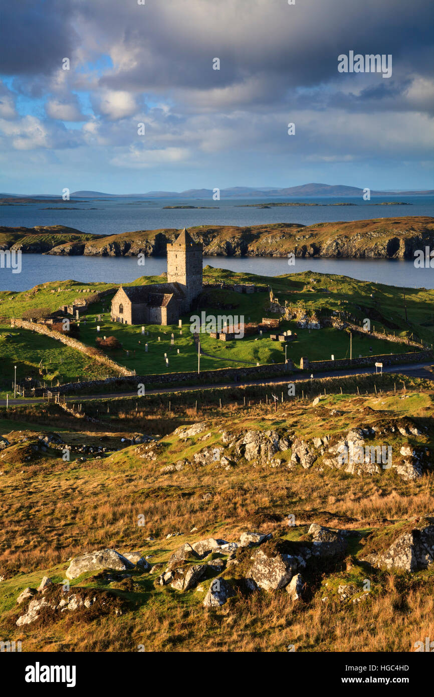 St Clements Church at Rodel (Roghadal) on the Isle of Harris. - Stock Image