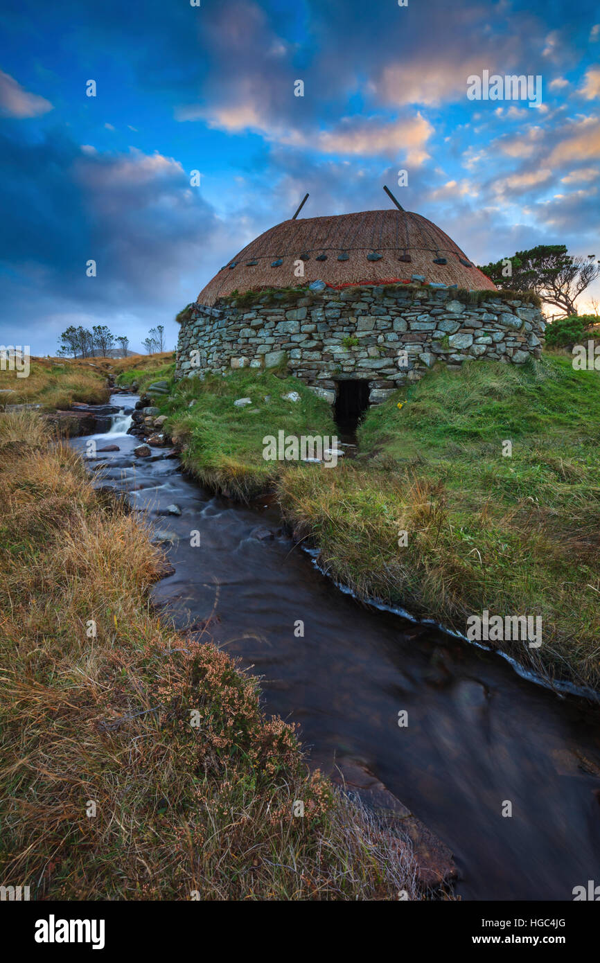 The Norse Mill and the Atlantic Coast of the Isle of Lewis. - Stock Image