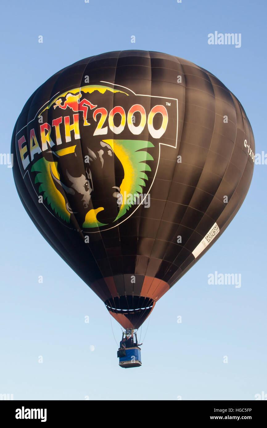 G-BXUO Lindstrand Earth 2000 Hot Air Balloon at Bristol International Balloon Fiesta 2016 Stock Photo