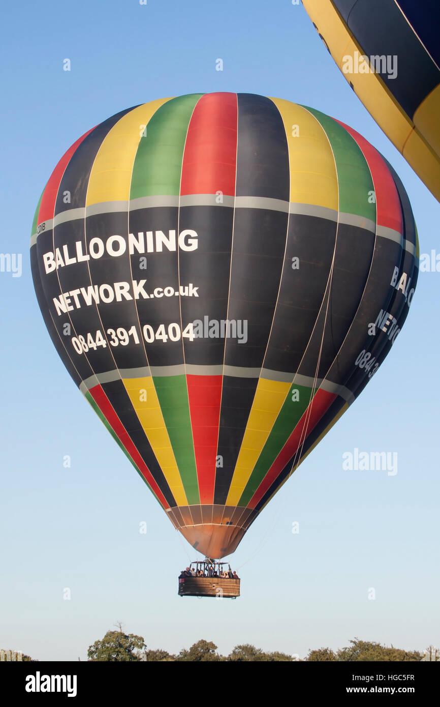 G-CDIB Cameron Hot Air Balloon of Ballooning Network at Bristol International Balloon Fiesta 2016 Stock Photo