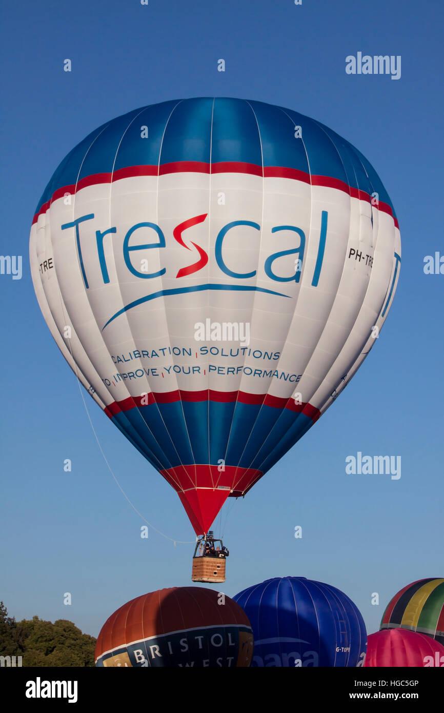 PH-TRE Trescal Cameron Hot Air Balloon at Bristol International Balloon Fiesta 2016 Stock Photo