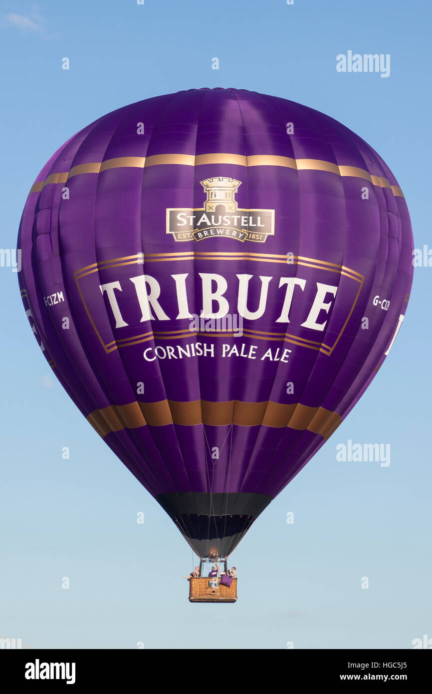 G-CIZM Tribute Ale Cameron Hot Air Balloon at Bristol International Balloon Fiesta 2016 Stock Photo