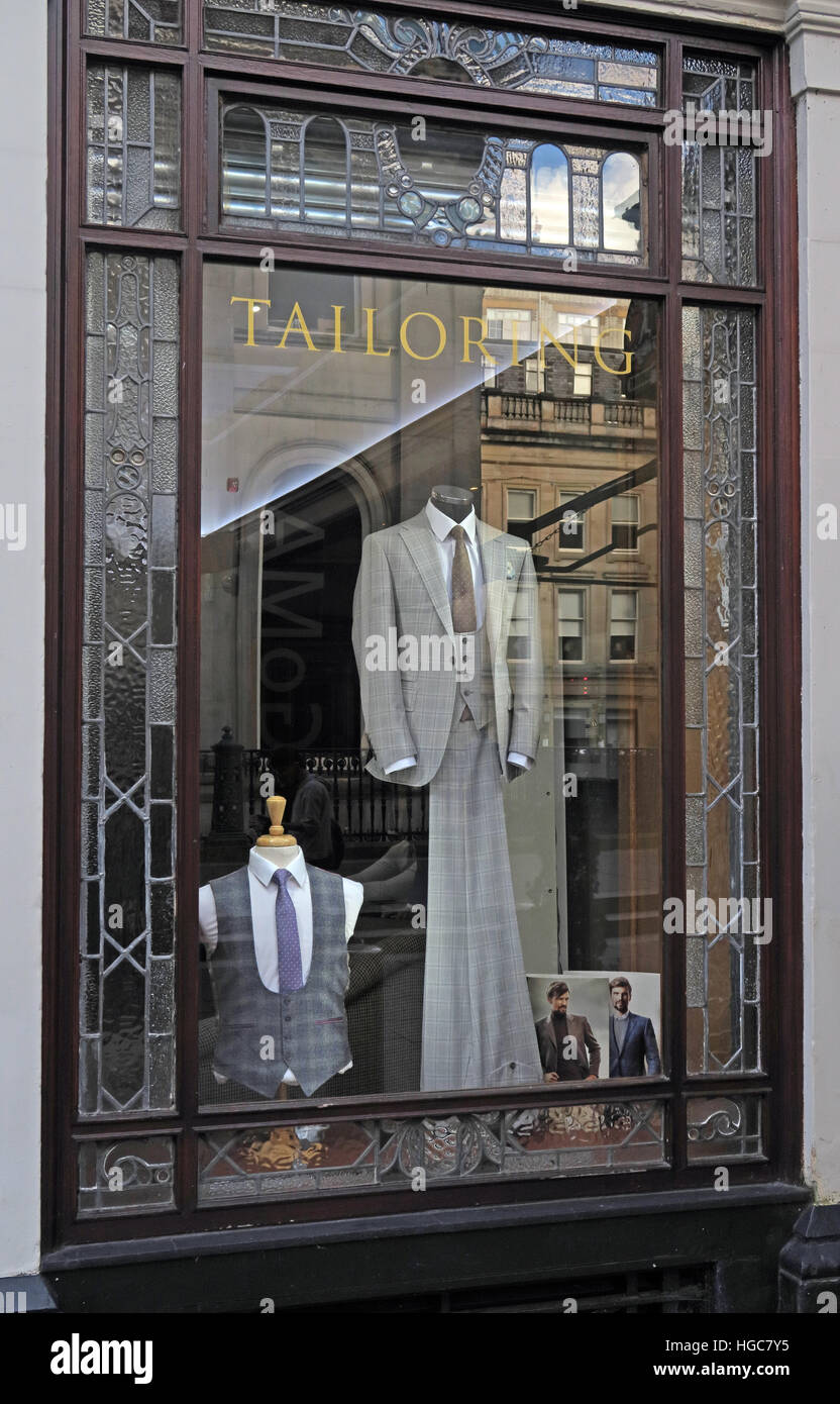 Old Taloiring Shop, Merchant City,Glasgow,Scotland, UK - Stock Image
