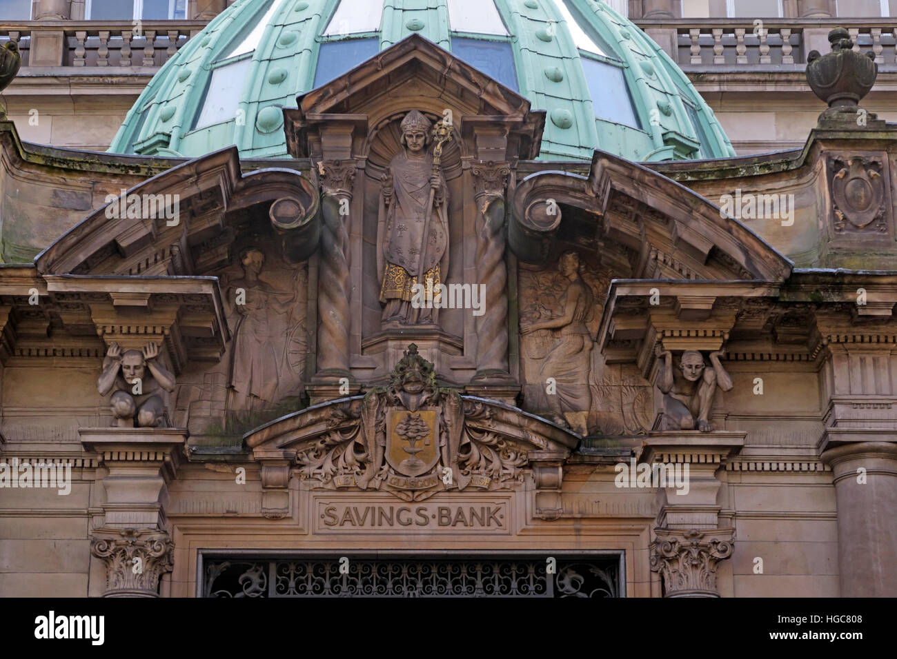 Savings bank,Ingram St,Glasgow,City,Centre, Scotland - Stock Image