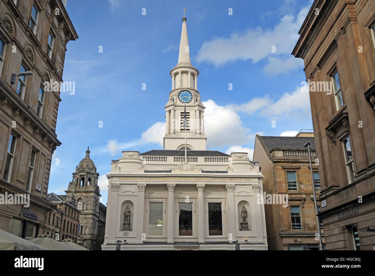 Hutcheson Hospital, building, Ingram St, Merchant,City,Centre,Glasgow, Scotland - Stock Image