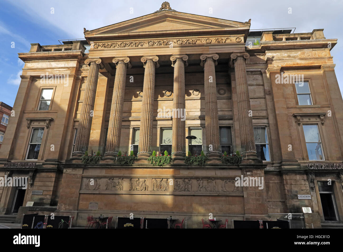 Sheriff Court building, now Citation bar, Glasgow - Stock Image