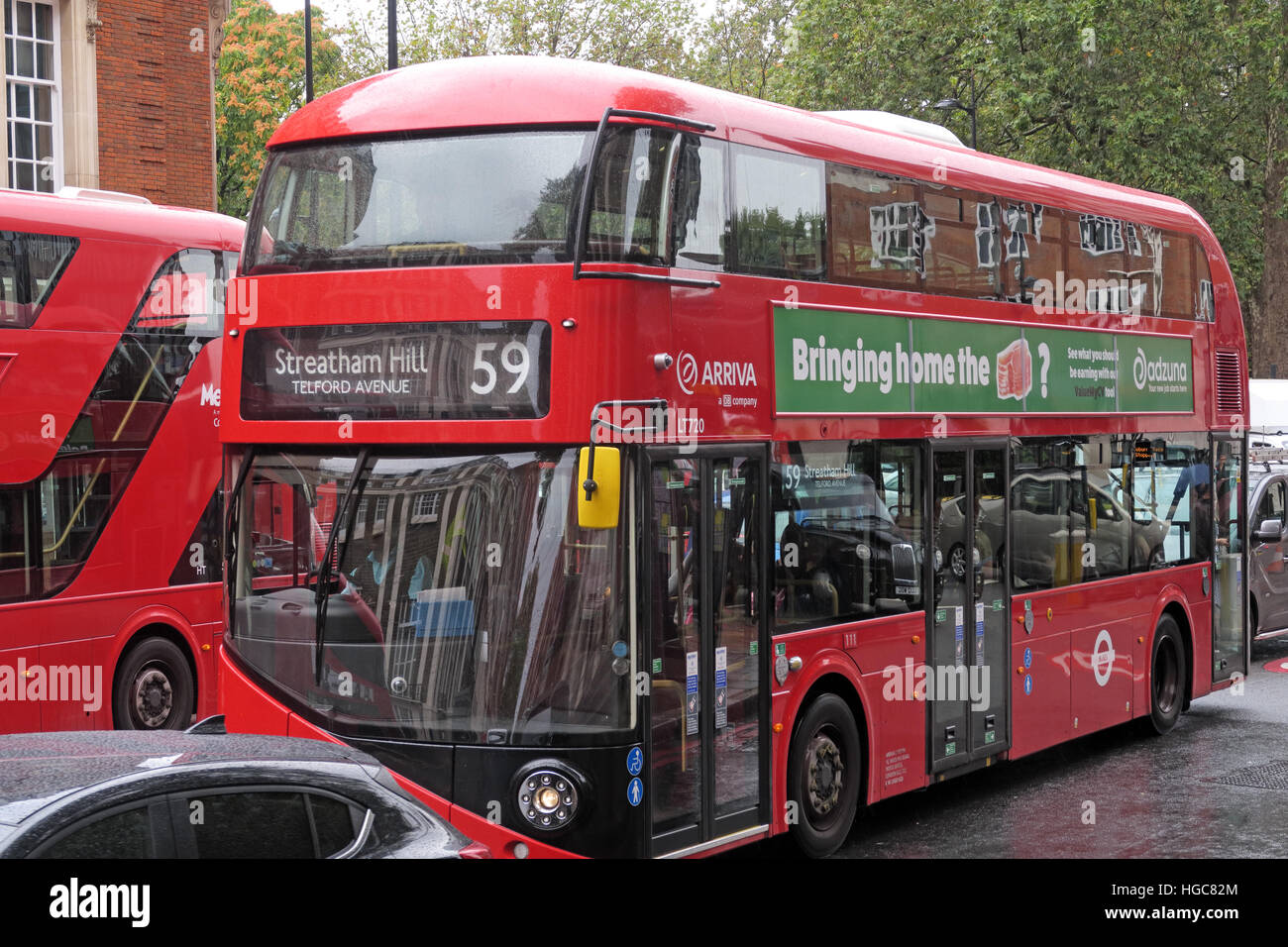 Red London New red Routemaster 59 to Streatham Hill Stock Photo