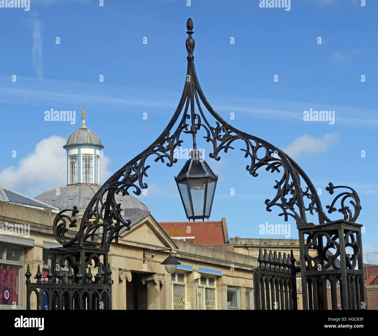Historic Bridgwater - St Marys Church - Somerset, England, UK - Stock Image
