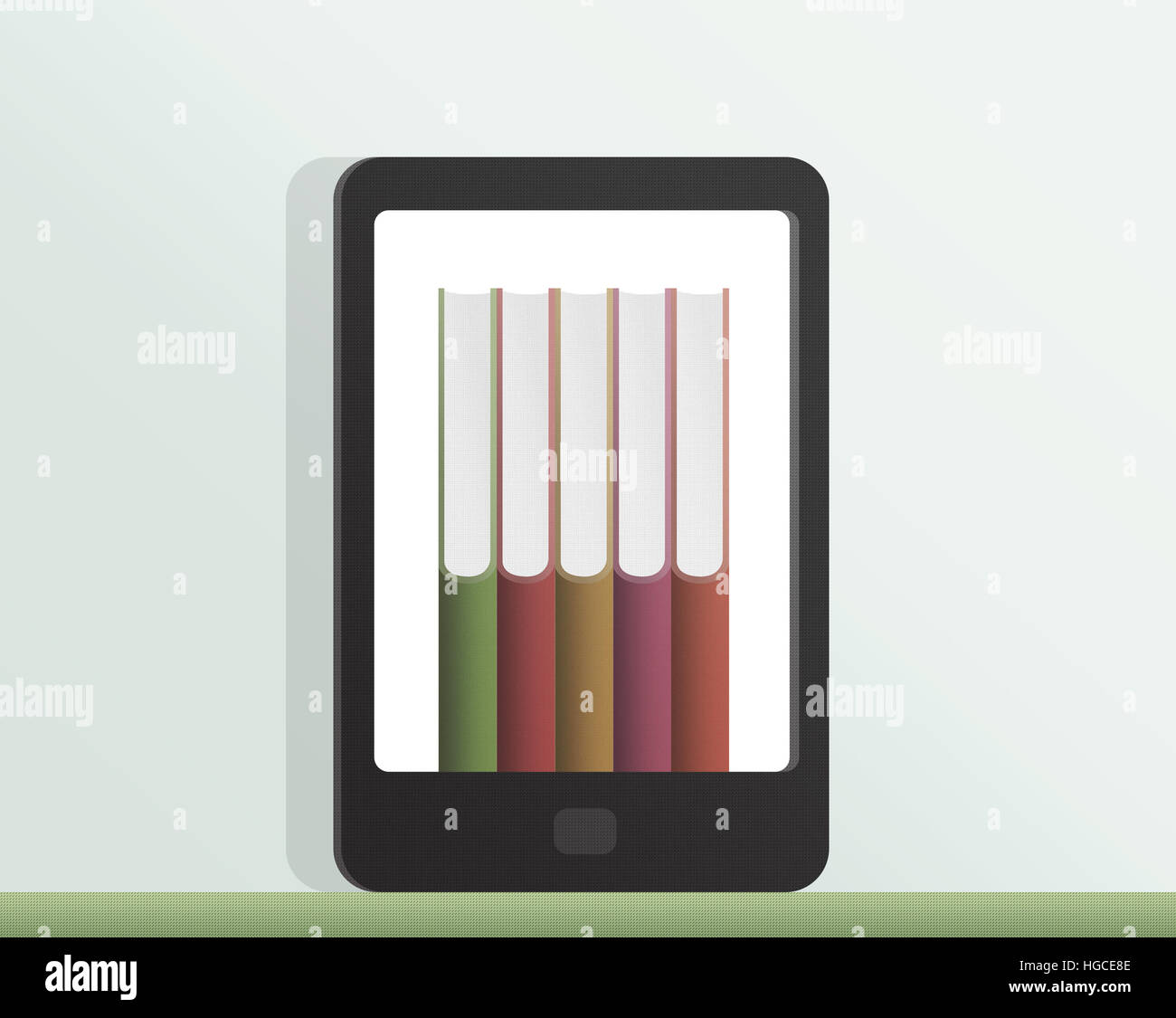 E-book, books illustration - Stock Image