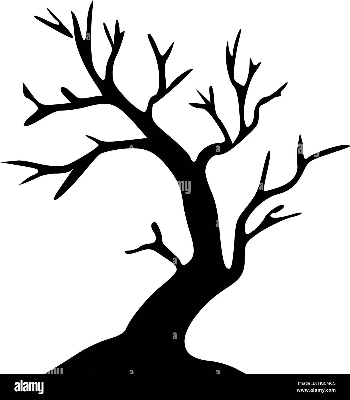 leafless tree halloween tree stock vector art illustration vector rh alamy com tree silhouette vector palm tree vector