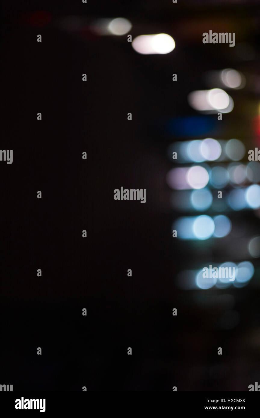 Horizontal abstract lights - Stock Image