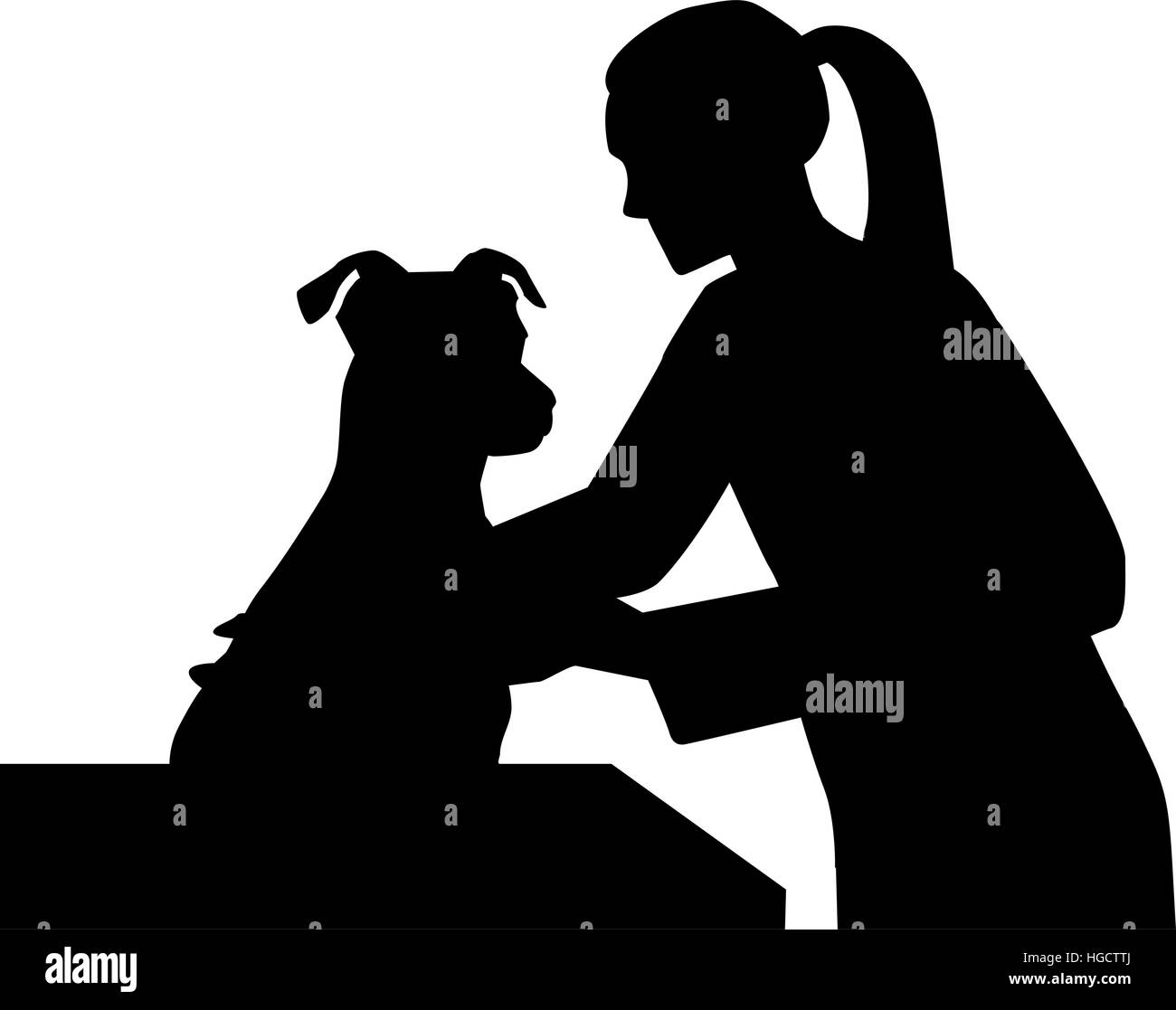 Female Veterinarian with dog - Stock Image
