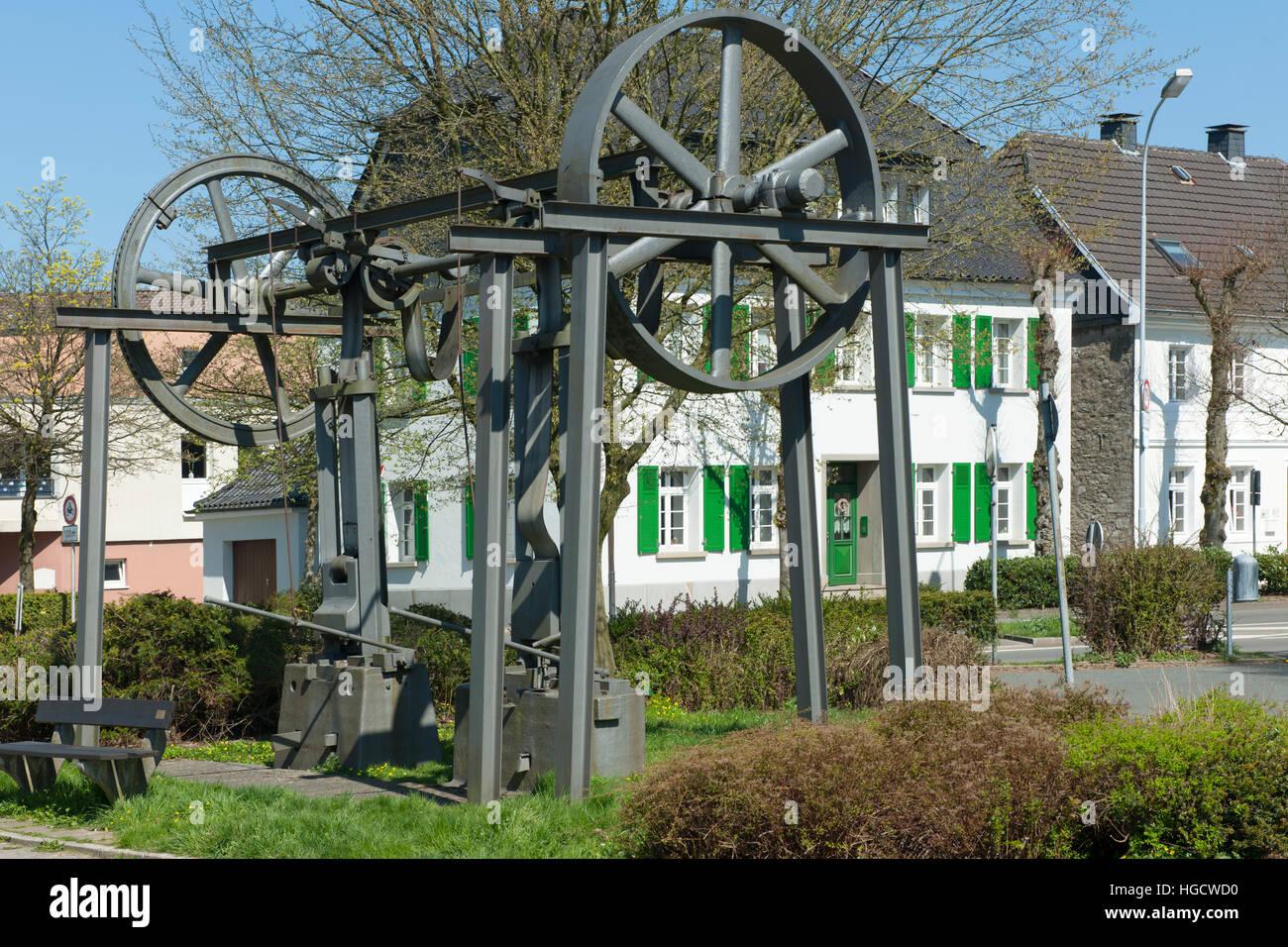 Deutschland, Nordrhein-Westfalen, Ennepe-Ruhr-Kreis, Hansestadt Breckerfeld, Ecke Frankfurter Straße / Westring, - Stock Image