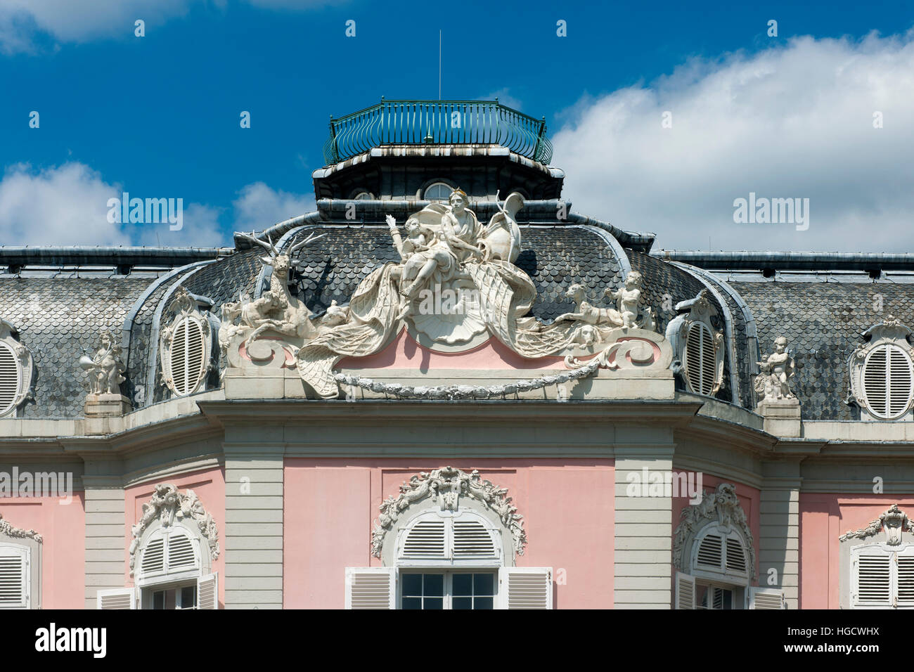 Deutschland, Düsseldorf, Schloss Benrath, Südseite des Corps de Logis Stock Photo