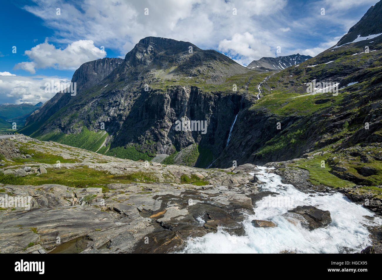 Trollstigen mountain viewpoint - Stock Image