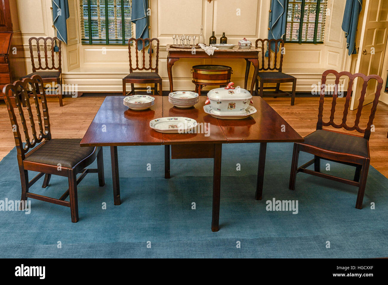 Colonial Williamsburg Governoru0027s Palace Dining Table Stock ...