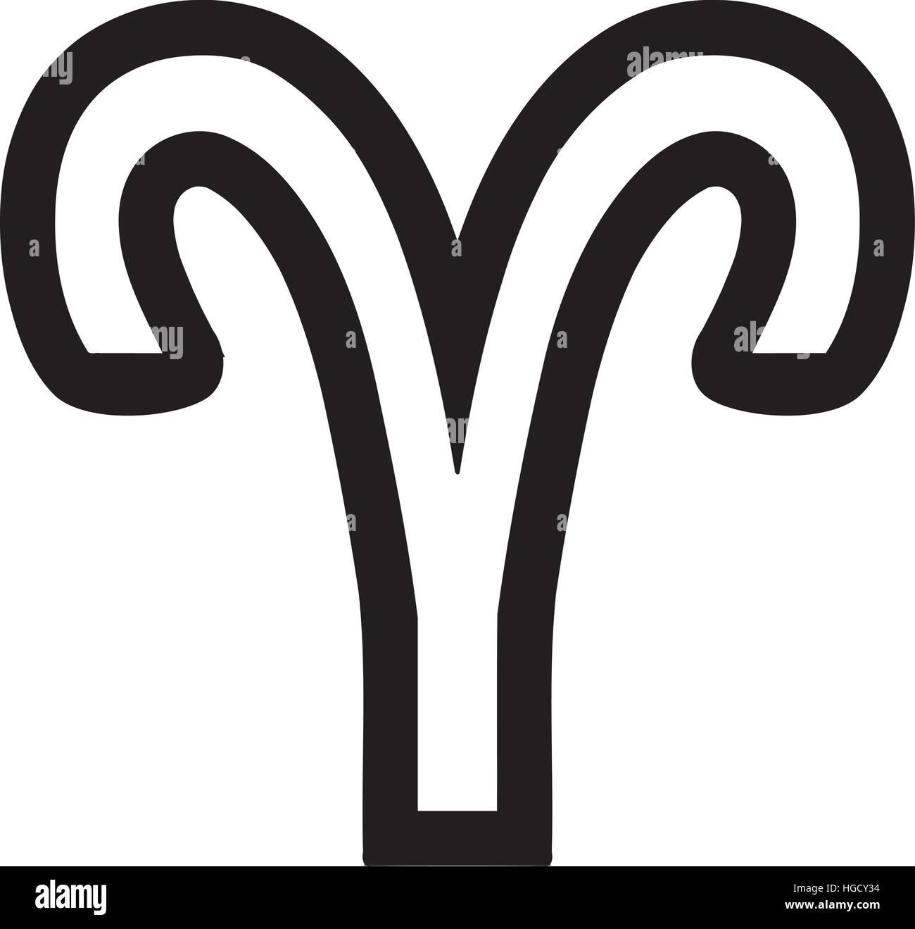 Aries Symbol Outline Wiring Diagrams Zodiac Sign Stock Vector Art Illustration Rh Alamy Com Tribal Tattoo Designs