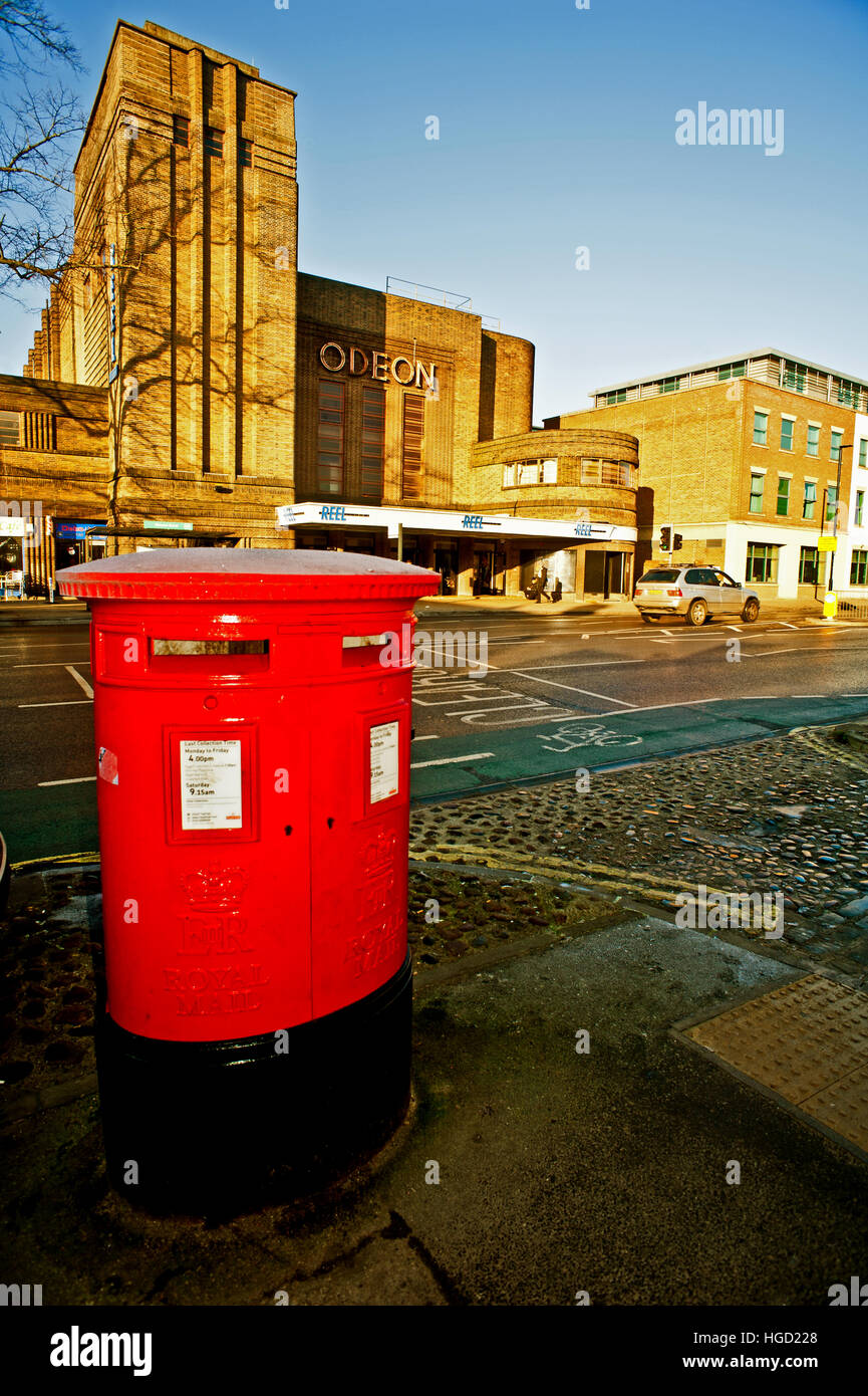 Twin ER Postboxes at Blossom Street near Mickelgate, York - Stock Image