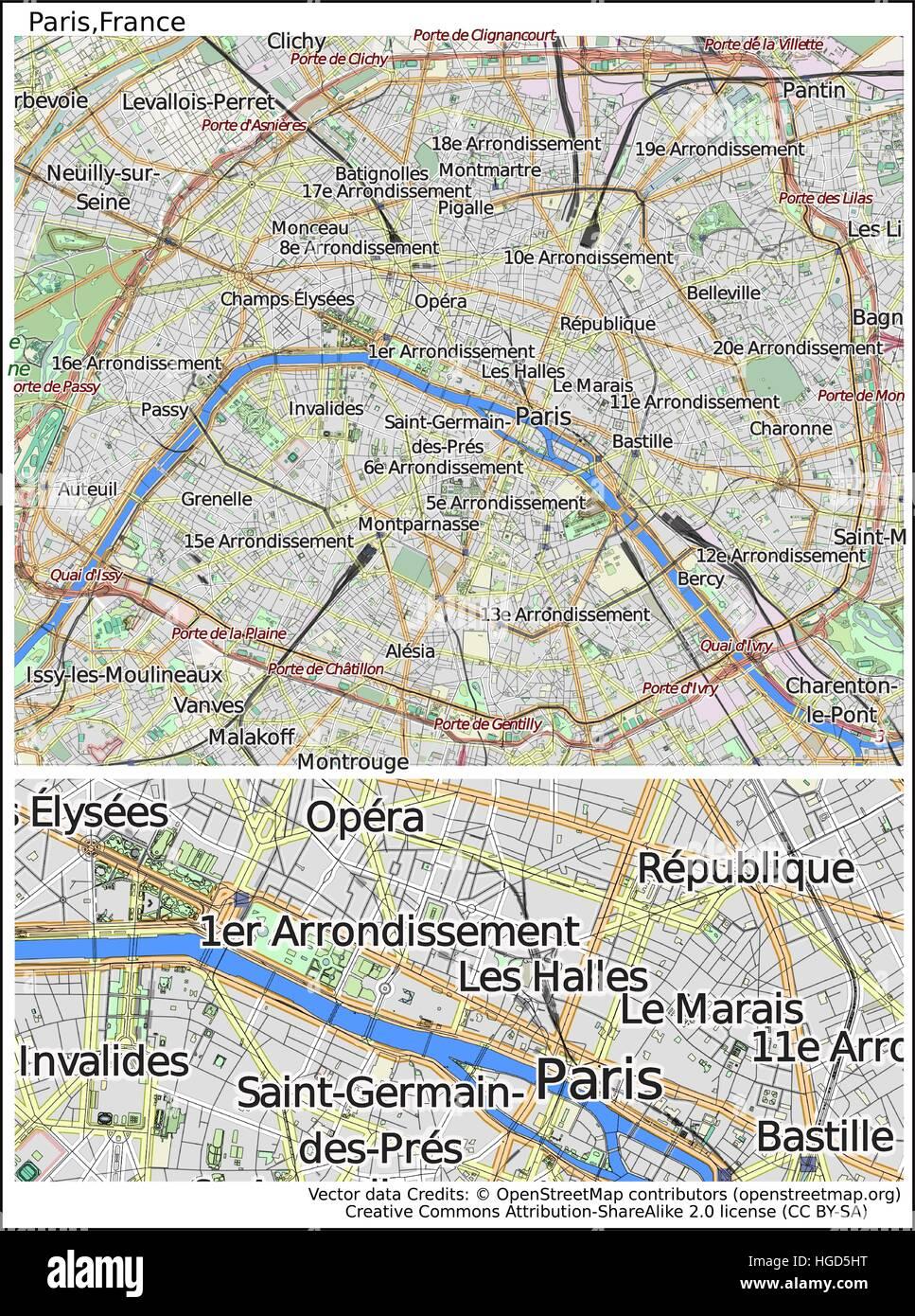 Paris France Stock Vector