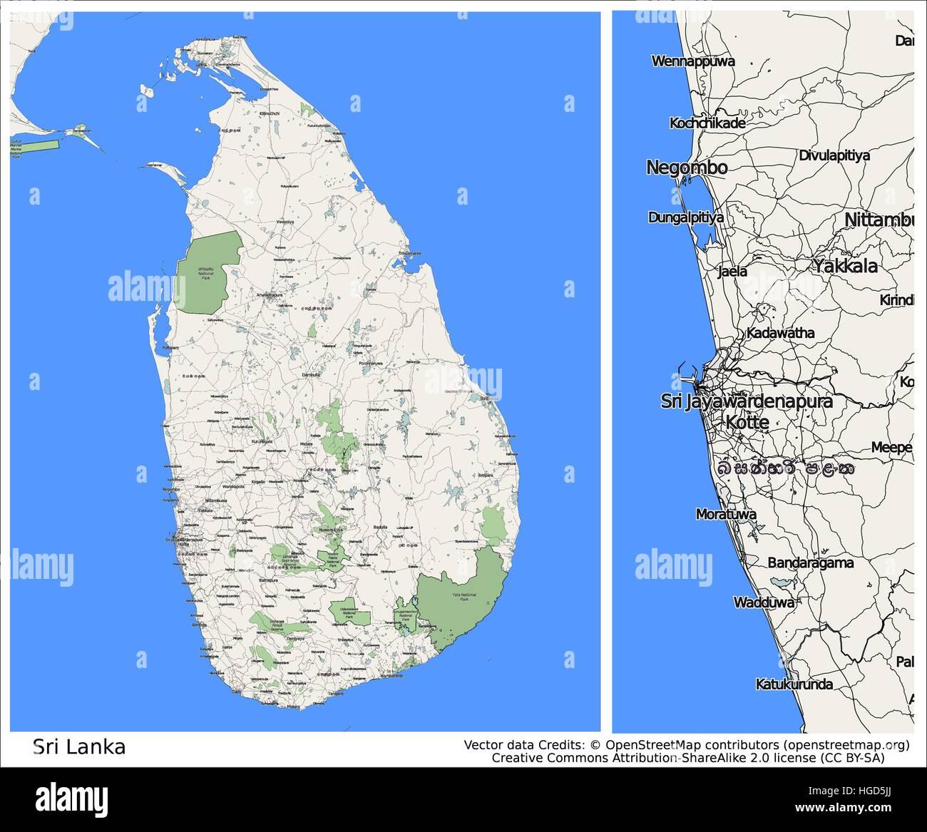 Sri Lanka Asia - Stock Vector